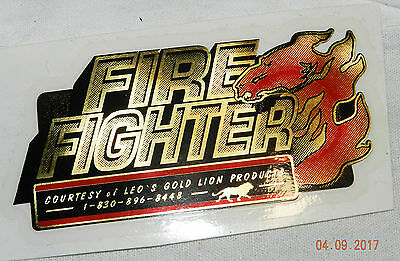 """Leo's Gold Lion Products """"fire Fighter"""" Reflective 3"""" Sticker"""