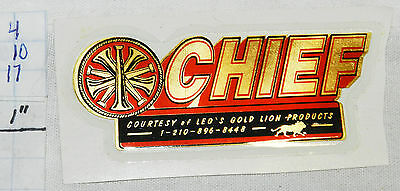 """Leo's Gold Lion Products Fire """"chief"""" Reflective 2.5"""" Sticker"""