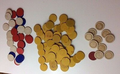 Antique Dealer Poker Chips 114 Chips
