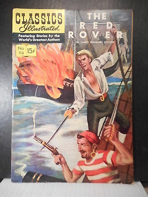 Classics Illustrated # 114  (HRN 115)  The Red Rover  VG+  57TB.
