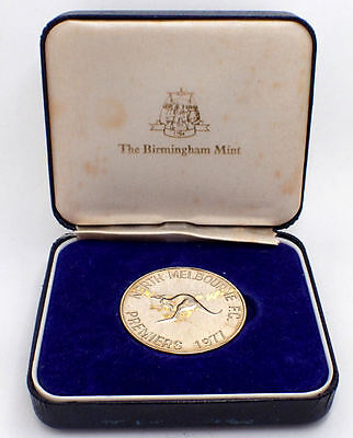 North Melbourne Football Club 1977 Premiers Grand Final Sterling Silver Medal