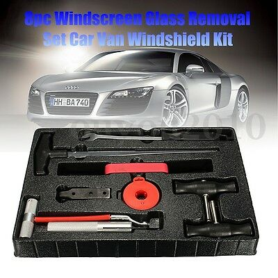 8Pcs Windscreen Glass Removal Remover Car Van Windshield Kit Hand Cutting Tool