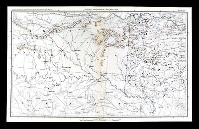 Civil War Map Indian Territory Oklahoma Texas Arkansas Chocktaw Chickasaw Nation