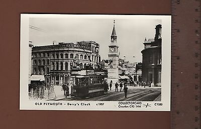 p#C1050 Old Plymouth Derry's Clock c1907     postcard