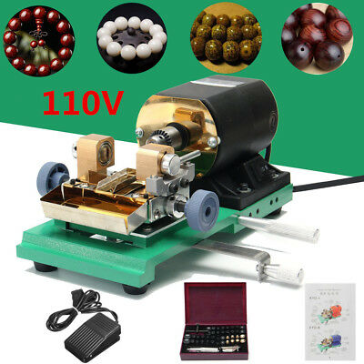AU 220V 380W Pearl Drilling Holing Machine Driller Jewelry Punch Tool Full Set