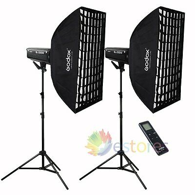 2Pcs Godox SL-200W White Version Remote Studio LED Light Wedding DV Children Kid