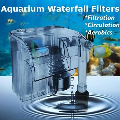 Aquarium Fish Tank Filter Hang On External Waterfall Fliter Self Priming Filter