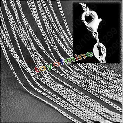 """1/5x10 Wholesale lots 925 Sterling Silver 2MM Rolo Curb Chain Necklace 16""""-30"""""""