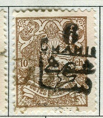MIDDLE EAST;  1903 early CHAHIS surcharged issue used 6c. value