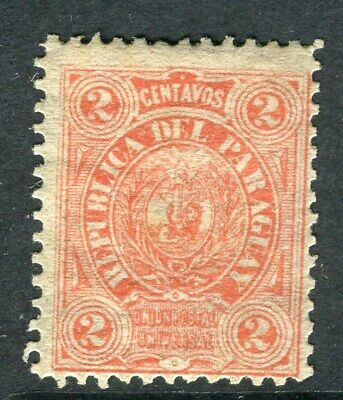 PARAGUAY;  1884 early classic issue unused 2c. value