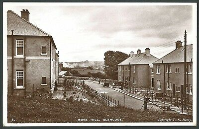 Glenluce Dumfries & Galloway Mote Hill 1937 Henry Real Photo Postcard