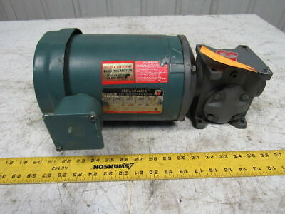 Grant Size 133 Style STF 20:1 Ratio Worm Gear W/1/2HP Electric Motor208-230/460V