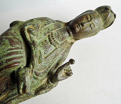 """Magnificent Huge Old Chinese Bronze Buddha Figure - 17.5"""" Tall - Early Example"""