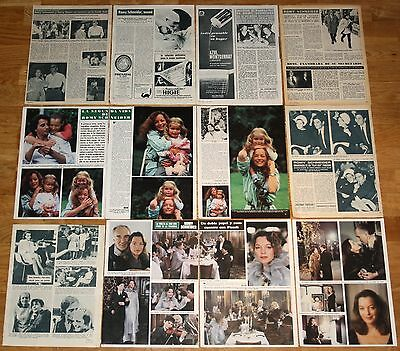 ROMY SCHNEIDER spain clippings 1960s/80s photos magazine article actress
