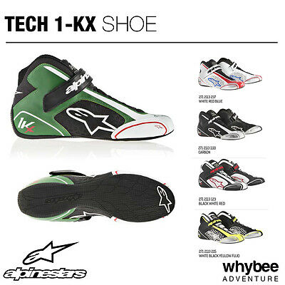 Sale! 2712113 Alpinestars TECH-1 KX KARTING BOOTS SHOES KART Ultra Lightweight