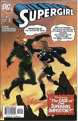 Supergirl (2005 Series) #04B February 2006 DC NM- 9.2  Variant