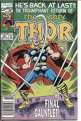 Thor (1962 Series) #457 January 1993 Marvel FN 6.0  Newsstand