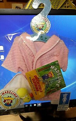 """Madeline 15"""" Doll Clothing Pink Terrycloth Bathrobe and Yellow Duckie Outfit NIP"""