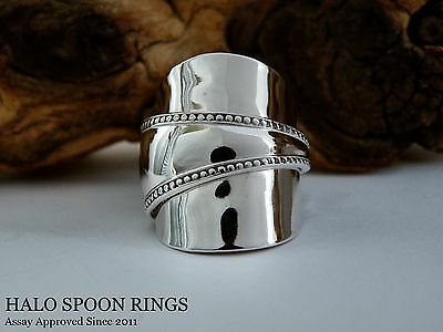 LADIES STUNNING CHUNKY CANADIAN STERLING SILVER SPOON RING HENRY BIRKS c1914
