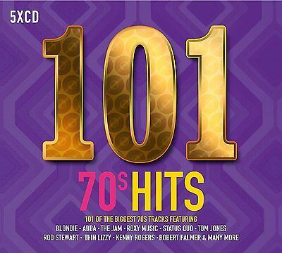 101 70's HITS 5 CD BOXSET (SEVENTIES) New Release May 2017)