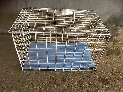 Old Plastic Coated Pet Carrier Basket Cat Small Animal