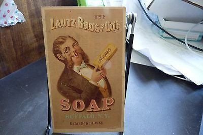 Lautz Bro's And Co. Soap Buffalo N.y. Vintage Trade Card