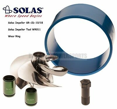 Solas Sea Doo GTI 4-Tec Impeller SR-CD-10/18 with Wear Ring and Impeller Tool