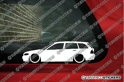 2x Lowered car stickers -for Bmw E46 3-series Touring Wagon 330i ,330d FACELIFT