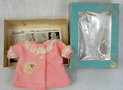 Vogue Ginnette Doll Tagged Pink Corduroy Coat with Box Vintage 1950's-60's
