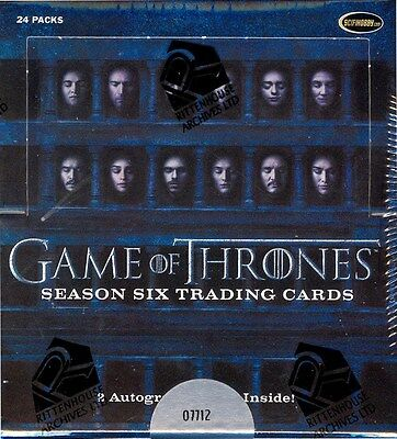 Game Of Thrones Season 6 Trading Cards 12 Box Case Blowout Cards