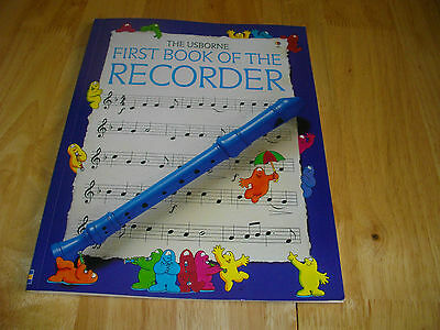The Usborne First Book Of The Recorder Beginners Descant Puzzles Colour Cartoons