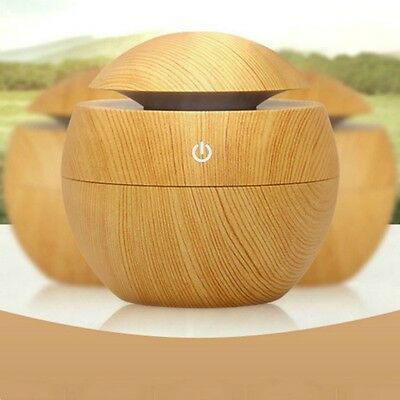 Air Aroma Humidifier Diffuser LED Ultrasonic Cylinder Grain Aromatherapy Machine
