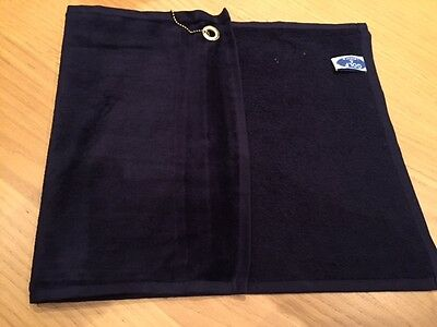 Navy Golf Bag Towel. 12 By 20 Inches