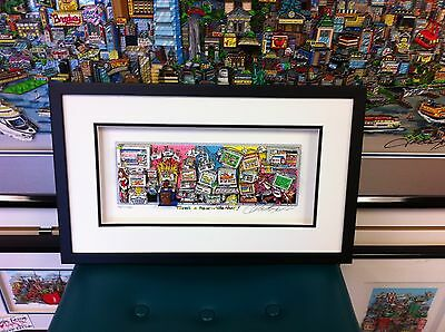 """Charles Fazzino 3D Art """" There's a Mouse in The House """" Deluxe Edition Framed."""