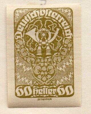 Austria 1919 Early Issue Fine Mint Hinged 60h. 154858