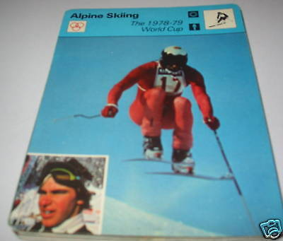 1978-79 world cup  - Alpine skiing SC Collector card