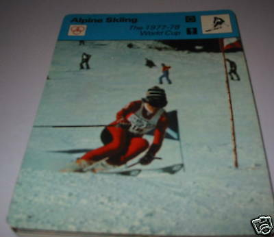 1977-78 world cup  - Alpine skiing SC Collector card
