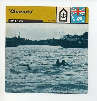 Chariots - Navy - Weapons - WWII Card