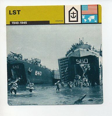 LST - Navy - Weapons - WWII Card