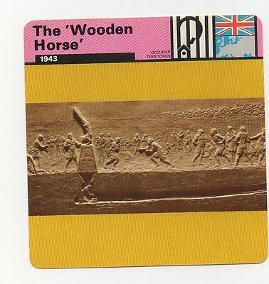 The Wooden Horse - Prisoners of War - Occupied Territories - WWII Card
