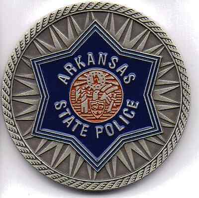 Arkansas State Police Challenge Coin - New Design - Made In The Usa!!!