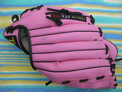 Pink Tower Softball Baseball Glove T55St With 10 Inch Pattern - Practically New