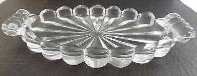 Beautiful Crystal Glass Etched Floral Candy Condiment Jar Container Bowl
