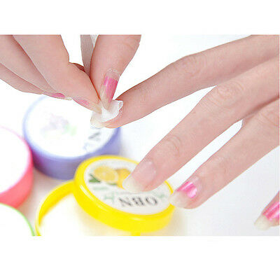 64pcs/2 Box Fruit Flavors Acetone Nail Polish Remover Cleaner Wet Wipe Pad Paper