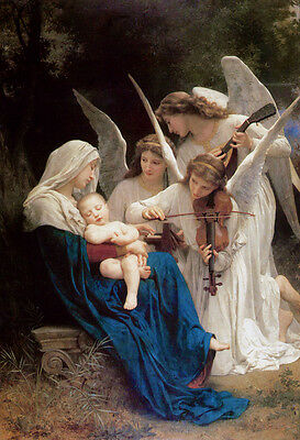 Song of the Angels by William Bouguereau Oil Painting Hd Printed on Canvas P814