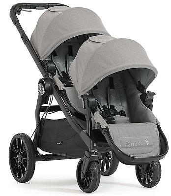 Baby Jogger City Select Lux Twin Tandem Double Stroller w Second Seat 2017 Slate