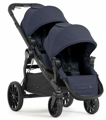 Baby Jogger City Select Lux Twin Tandem Double Stroller w/ Second Seat Indigo
