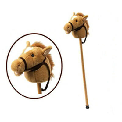*NEW* Plush Soft Brown HOBBY HORSE on Stick With Sound - Clip Clop & Neigh! 90cm
