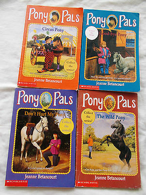 4 PONY PALS SERIES BOOKS by JEANNE BETANCOURT No's 8 to 11