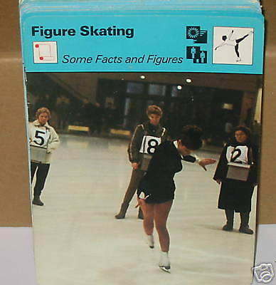 Facts & Figures skating winter sports Collector card